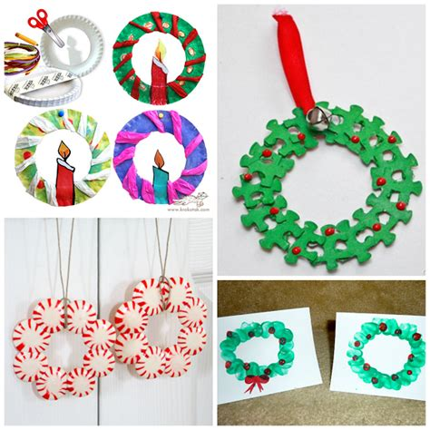 christmas wreath crafts for kids www imgkid com the