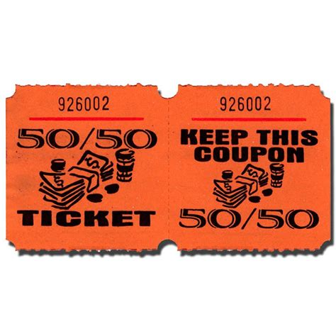 50 50 raffle ticket template 50 50 raffle description pictures to pin on