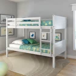 Loft Beds Brick Corliving Bunk Bed With Panel Headboards White