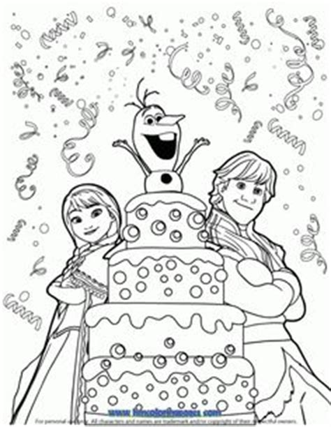 princess birthday cake coloring page elsa and birthday cake coloring page disney frozen