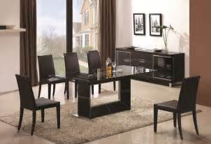 Modern Glass Dining Room Sets by Sophisticated Rectangular Wooden And Clear Glass Top