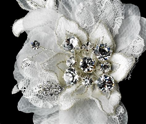 Wedding Flower Hair Comb lizzie flower bridal comb bridal hair accessories