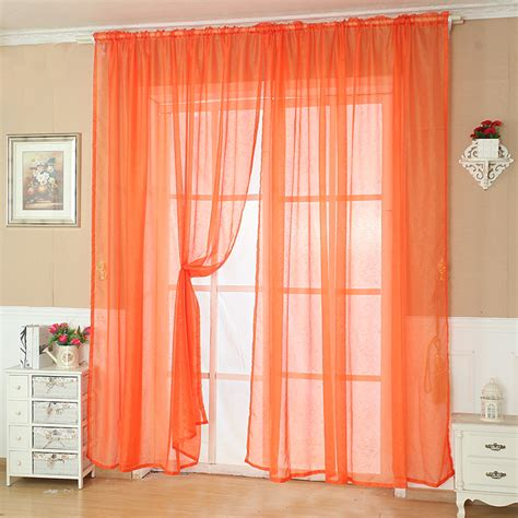 Solid Window Valances Solid Color Tulle Door Window Curtain Drape Panel Sheer