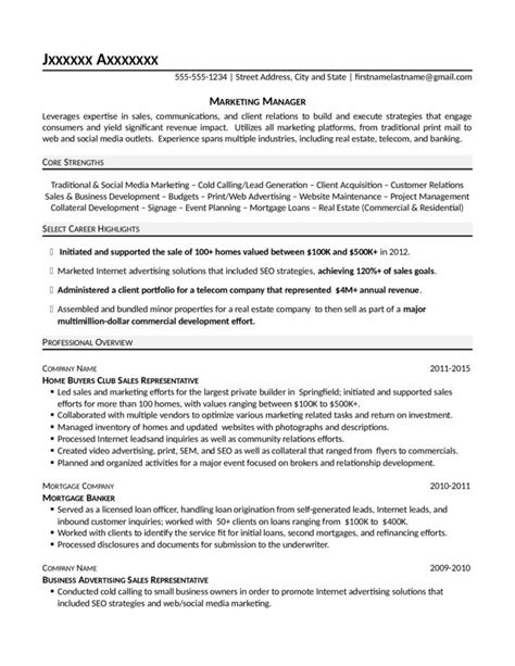 Resume Preparation Format by Marketing Manager Resume Resume Preparation Tips Formats