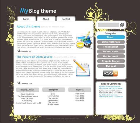 css layout templates blog come progettare dei siti web con gimp fedeweb