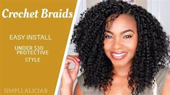 how to style and cut crochet braids with marley hair crochet braids easy install cut frame to face