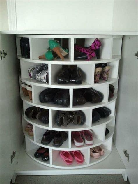 diy lazy susan shoe storage  owner builder network
