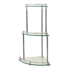 Bathroom Corner Glass Shelves Gatco 136 Premier Corner Glass Taboret Bathroom Shelf Atg Stores