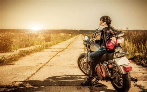Motorrad Fahren Mit Jeans by Hintergrundbilder Landschaft Frau Fahrrad Fahrzeug