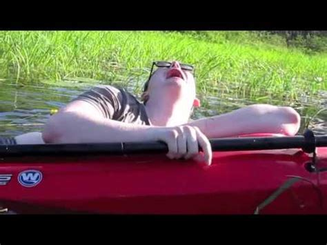 falling out of boat funny max falling out of kayak youtube