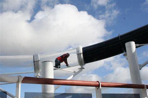 aidaprima rutsche msc preziosa endmontage der l 228 ngsten schiffsrutsche der
