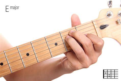 tutorial untuk beginner guitar e major guitar chord tutorial stock photo image 63777827