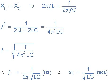how to calculate the resonance frequency of an rlc circuit quora