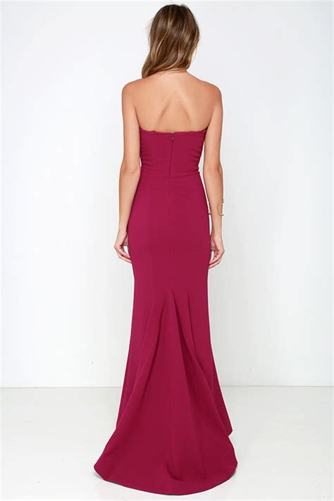 Maxi Sorella chic wine dress strapless dress maxi dress 205 00