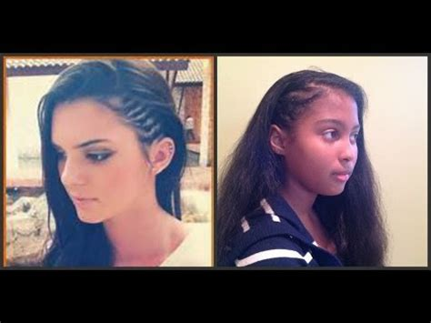 side cornrows kendall www imgkid the image kid has it kendall jenner side cornrow tutorial
