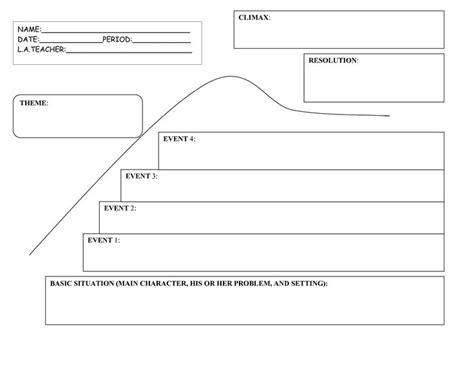 printable narrative organizer 5th grade story elements graphic organizer story map