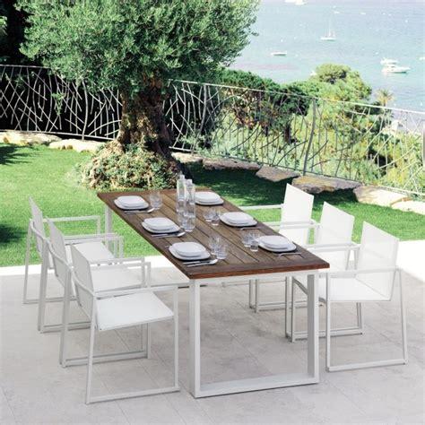 tavoli e sedie per esterno tavolo per esterno in teak amalfi arredaclick