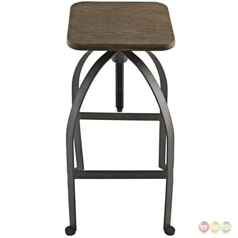 Bar Stools Square Seat by Pointe Rustic Industrial Square Bar Stool With Bamboo Seat