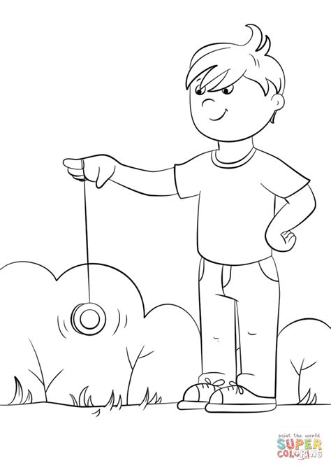 free coloring pages yoyo cartoon boy playing yo yo coloring page free printable