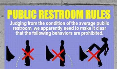 public bathroom rules funny things to do in public restrooms
