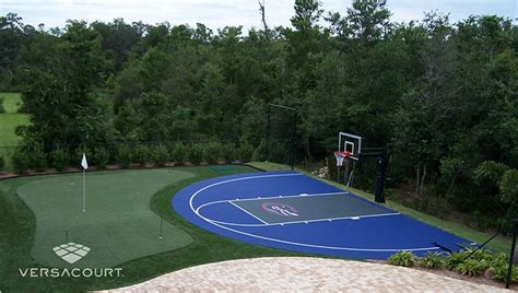 backyard sport court cost 25 best ideas about backyard putting green on pinterest