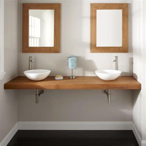 bathroom vanity with vessel sink mount 73 quot teak wall mount vanity top for vessel sinks bathroom
