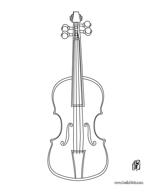 violin coloring pages hellokids com