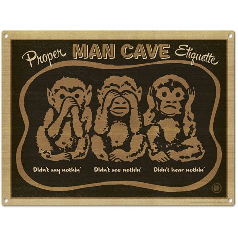 metal signs for home decor man cave three wise monkeys metal sign home bar decor