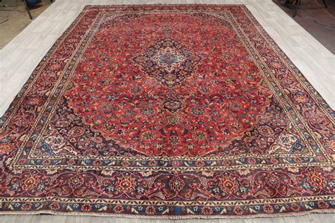 9 X 12 Area Rugs Cheap Clearance 9x12 Mashad Area Rug Wool Carpet 12 6 Quot X 9 2 Quot Ebay