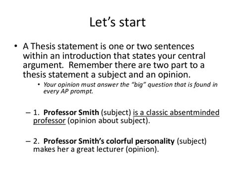 how to start a dissertation writing a thesis statement