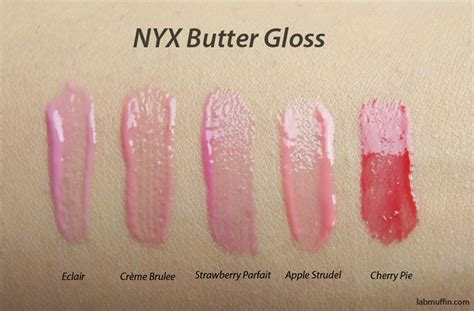 Nyx Butter Gloss nyx butter gloss and butter gloss swatches and