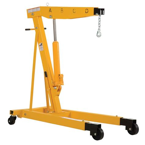 vestil 4000 lb capacity engine hoist with telescopic legs