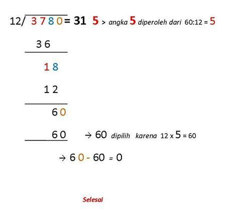 menghitung pembagian  mudah  benar caraharian