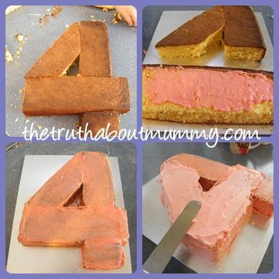 number 4 cake template number 4 birthday cake template