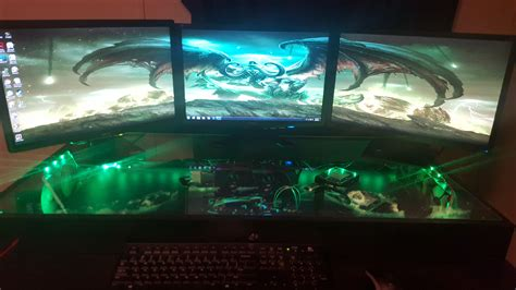 Custom Gaming Computer Desk Pc Gaming Desk Built Custom Gaming Desk Pc Battlestations Signin Works
