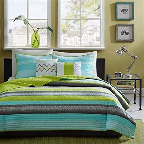 lime green coverlet reversible modern teal lime green grey coverlet bedding