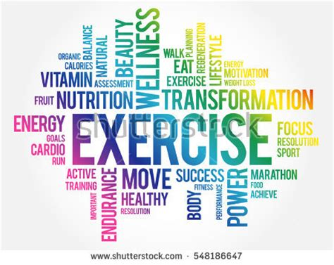10 Words To Remember For A Healthy by Success Word Cloud Fitness Sport Health Stock Vector