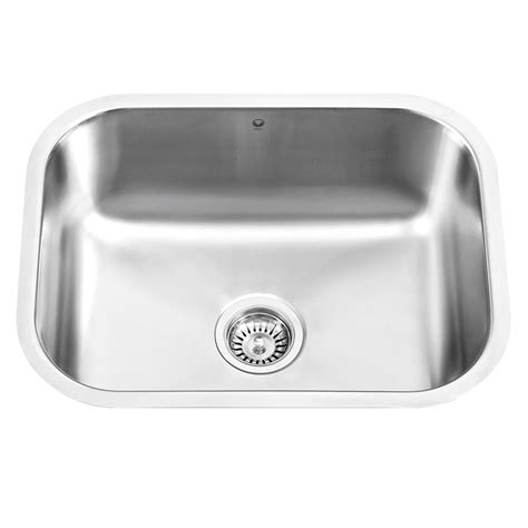 stainless steel single bowl undermount kitchen sink vigo undermount stainless steel 17 8 in single bowl
