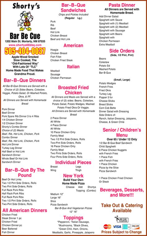 tops bar bq menu yellowbook the local yellow pages directory