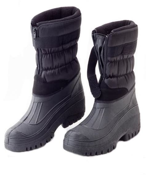 mens fleece lined winter snow muck boots boys yard stable