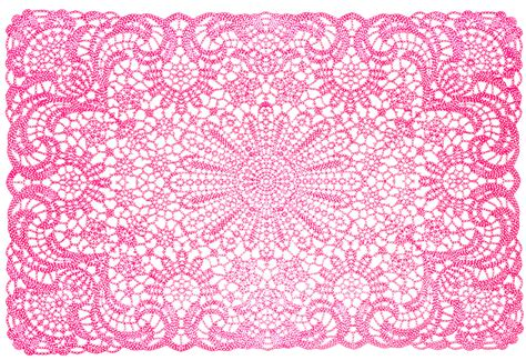 Blue Kitchen Design by Pink Vinyl Lace Placemat Sourpuss Clothing