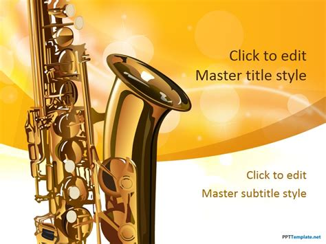 power point themes jazz free saxophone ppt template