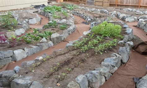 How To Build A Rock Garden Bed Veggie Gardens Cascadia Edible Landscapes