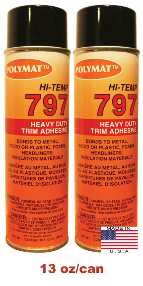 Auto Upholstery Adhesive by Qty2 Polymat 797 High Temp Spray Adhesive Automotive