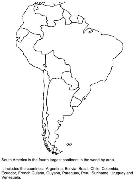 printable southamerica countries coloring pages