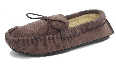 boys size 4 slippers boys mokkers real suede leather moccasin slippers