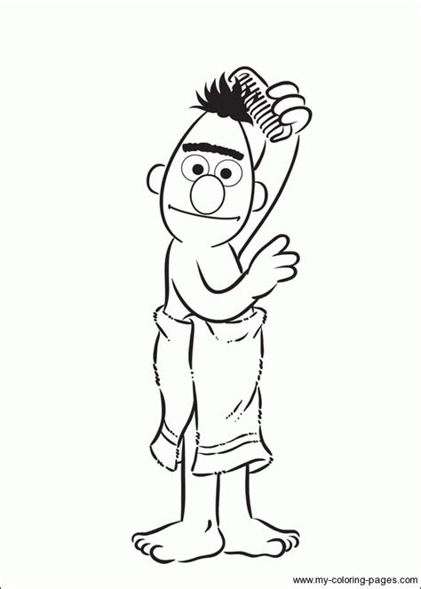 Ernie Bert Coloring Pages Geekery I Like Pinterest Bert And Ernie Coloring Pages