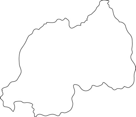 Country Outline by Rwanda Outline Map