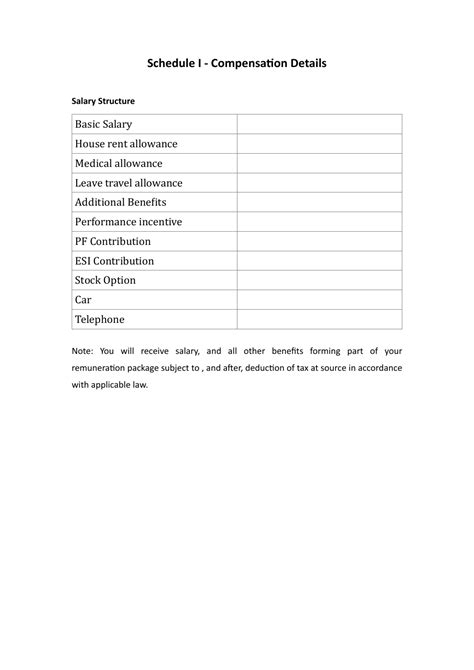 format of appointment letter for pdf appointment letter format pdf