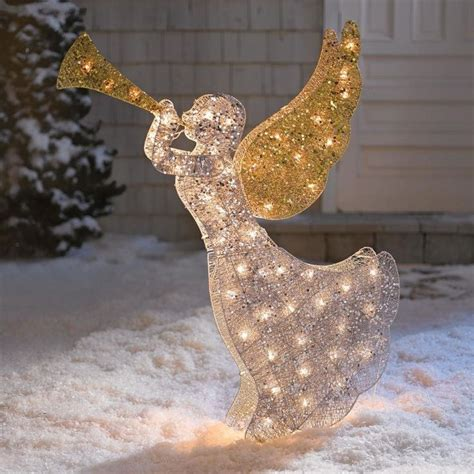 lighted angel outdoor christmas decorations outdoor christmas light decoration ideas christmas